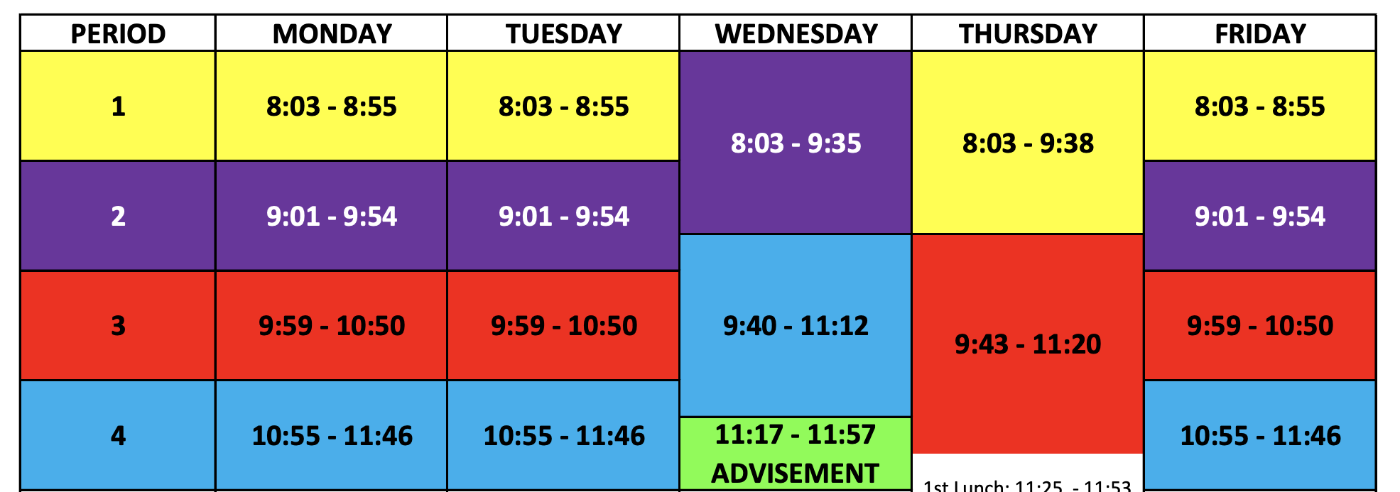Considerations for a High School Hybrid Bell Schedule for Band and Fine Arts