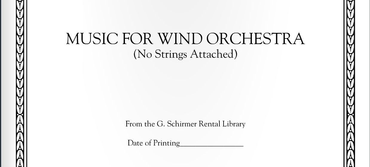 Music for Wind Orchestra: Program Note